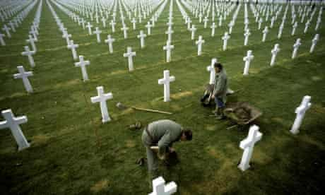 War graves in France