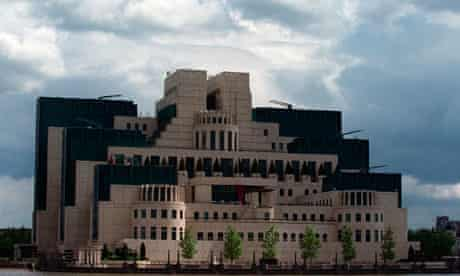 Headquarters of Britain's Secret Intelligence Service in London