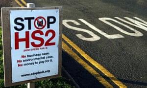 A 'stop HS2' sign