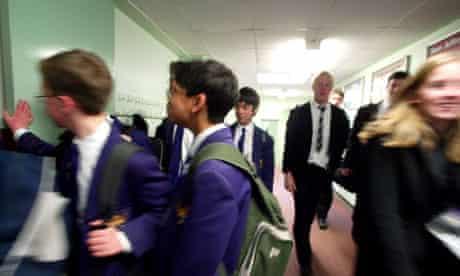 Pupils at Colchester Royal Grammar School