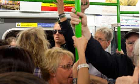 Crowded tube carriage