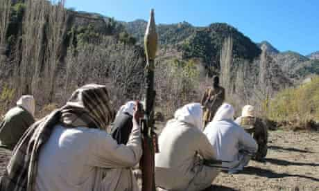 Taliban fighters in north-west Pakistan