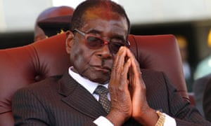Robert Mugabe, who was stripped of his knighthood in 2008