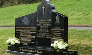 Library image of Jimmy Savile's headstone