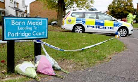 Floral tributes laid at Barn Mead
