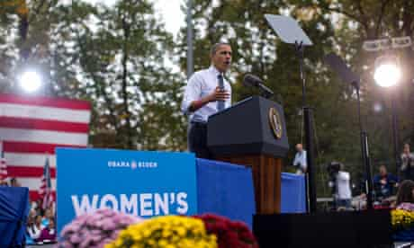 President Barack Obama speaks about the choice facing women in the upcoming election