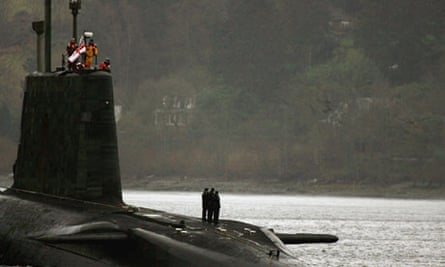 A Trident-armed submarine on the Clyde