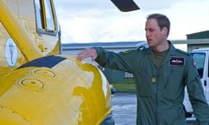 Duke of Cambridge at RAF Valley