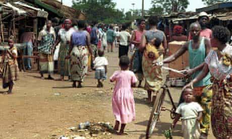 A market in Malawi