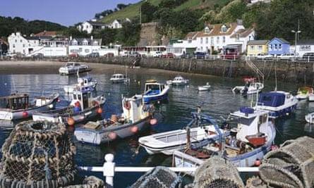 Rozel harbour, on Jersey