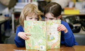 Primary school children learning to read