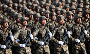 Soldiers from Chinese People's Liberation Army