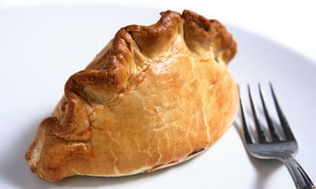 A traditional British Cornish pasty