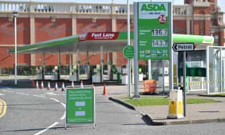Asda petrol station in Trafford Park, Manchester