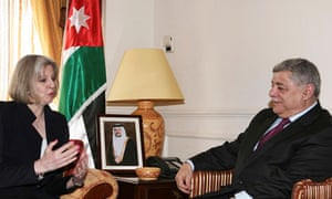 Theresa May in Jordan