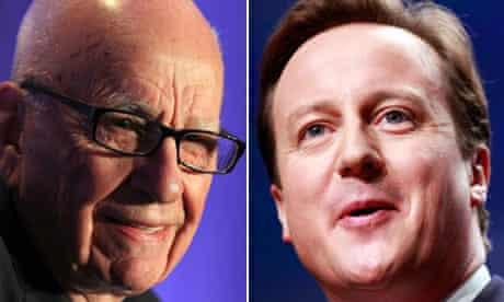 Rupert Murdoch and David Cameron
