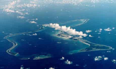 Diego Garcia, the largest island in the Chagos archipelago