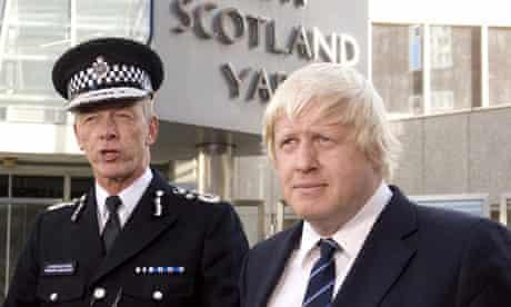 Bernard Hogan-Howe and Boris Johnson