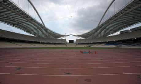 The inside of the Olympic Stadium in Athens