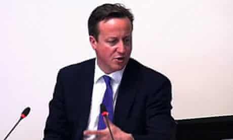 David Cameron at the Leveson inquiry