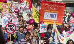 NUT London teachers' strike and march