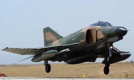 A Turkish F-4 Phantom fighter