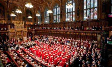 The state opening of parliament in the House of Lords