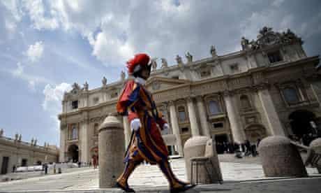 A Swiss guard at the Vatican