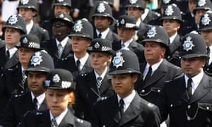 Newly qualified police officers