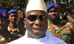 The Gambian president, Yahya Jammeh