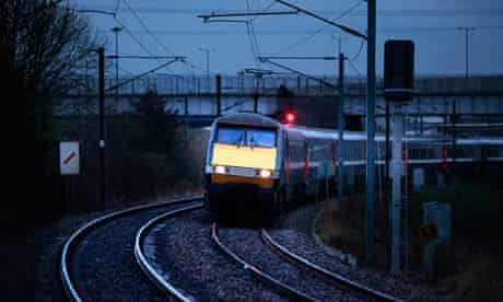 An inter-city train on the east coast mainline