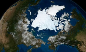 Satellite image of Arctic sea ice