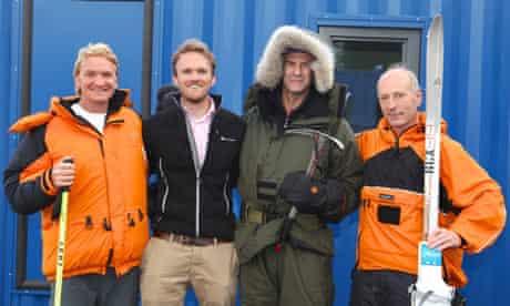Ian Prickett, Tristam Kaye, Sir Ranulph Fiennes and Brian Newham