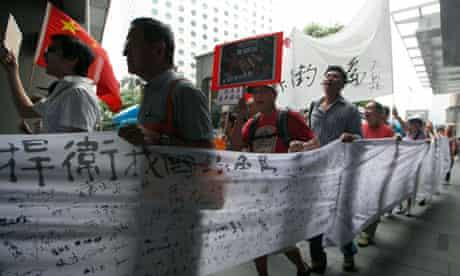 Anti-Japan protesters