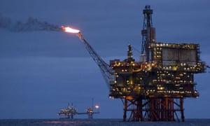 Beryl bravo oil and gas platform