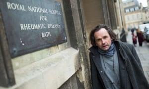 Stuart Noad outside the Royal National hospital for rheumatic diseases, Bath.