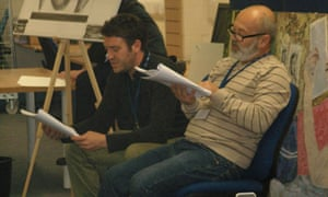 Actor Keith Allen takes part in the 2012 Hay in the Parc literary festival at Parc prison, Bridgend.