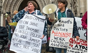 A protest against the WCA in London last October