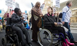 Disabled people protest against cuts