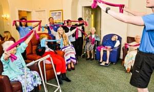 A chair cheerleading class run by the social enterprise Oomph!