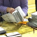 counting votes in the local elections