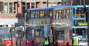 Buses in Manchester city centre