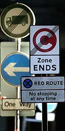 Road sign chaos in east London.
