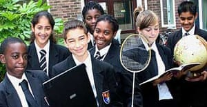 Pupils at Lampton comprehensive in Hounslow, west London, which takes racism and bullying seriously.