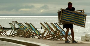 Deckchairs by the seaside