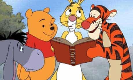 Eeyore, Winnie the Pooh, Rabbit and Tigger