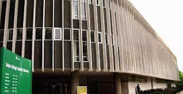 Swiss Cottage library, north London. designed by Sir Basil Spence.