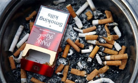 Cigarette smoking ashtray