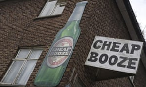 Cheap booze / sign
