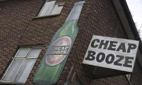 Cheap booze / sign
